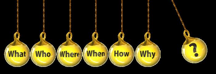 Goldene Kugeln mit Fragen